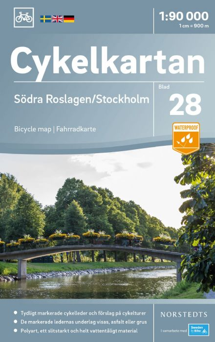 Sweden Cycling Map 28 - Roslagen South & Stockholm